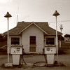 Abandoned vintage Marathon gas station in Indiana.  This has since been demolished.
